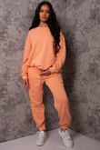 Hollie Orange Sweatshirt and Jogger Lounge Set
