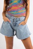 Ivy Blue Flared Denim Shorts