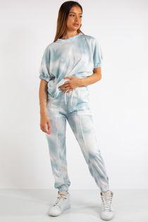 Belle Blue Tie Dye Tracksuit Set