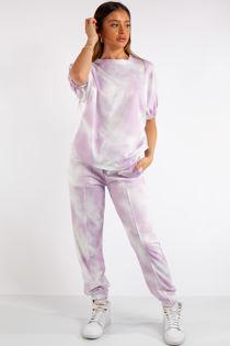 Belle Lilac Purple Tie Dye Tracksuit Set