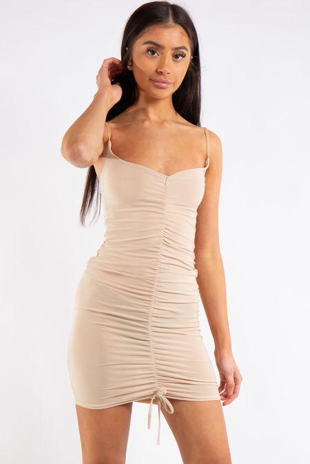 Eve Stone Ruched Slinky Midi Dress