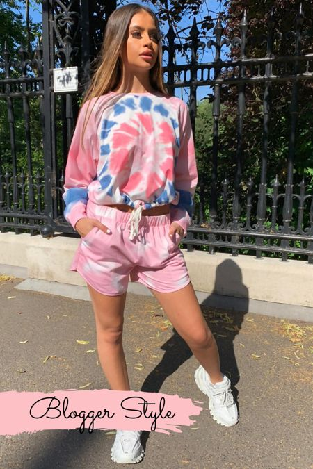India Pink Tie Dye Long Sleeve Co-ord Set