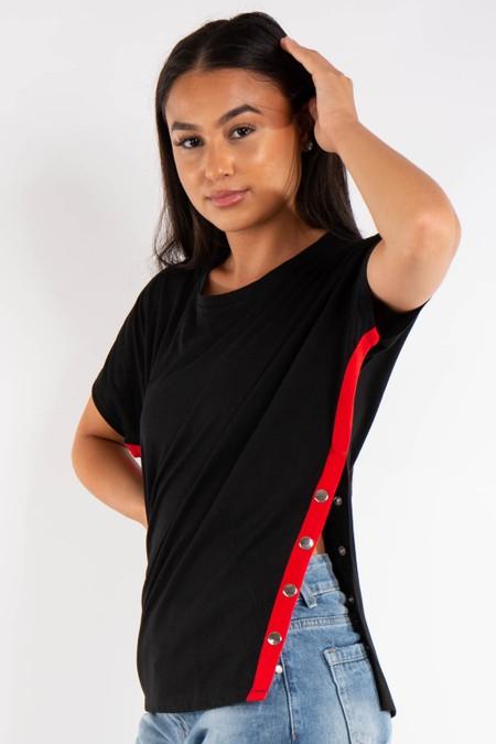 Black Side Popper T-shirt