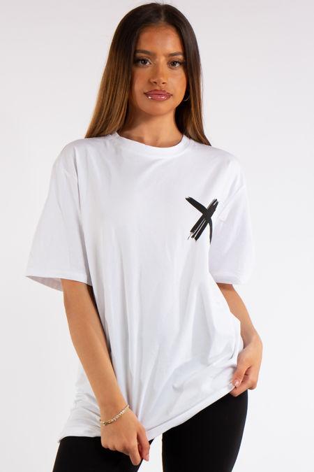 Miah White X Slogan Oversized T-Shirt