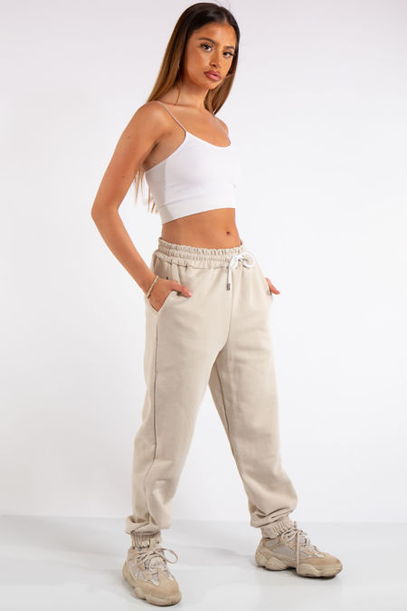 Tenley Stone Plain Jogger Pants