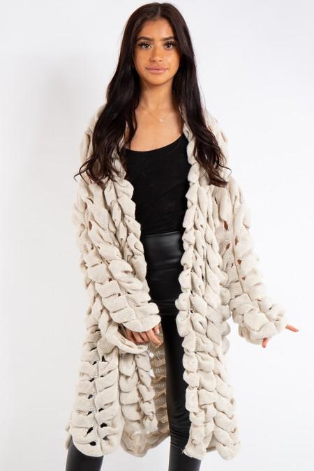 Sarah Stone Knitted Longline Cardigan