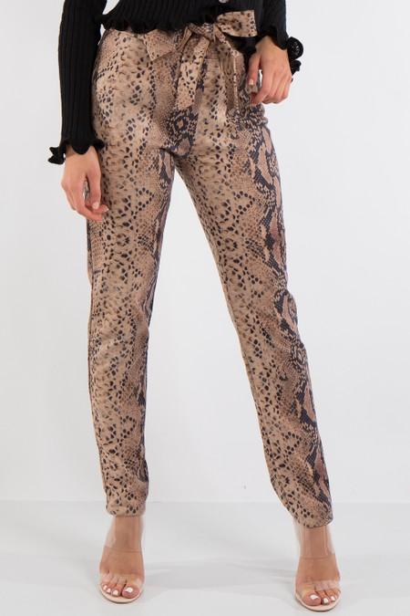 Katherine Snake Print Trousers
