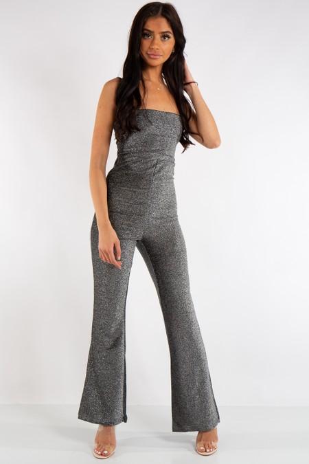 Savannah Silver Metallic Jumpsuit