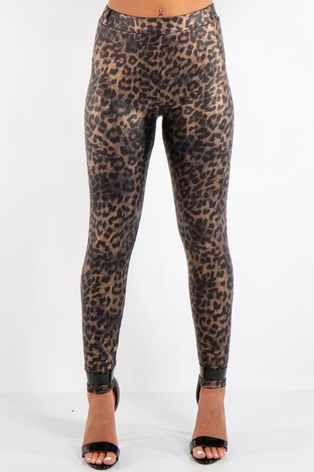Andrea Leopard Printed Seamless Leggings