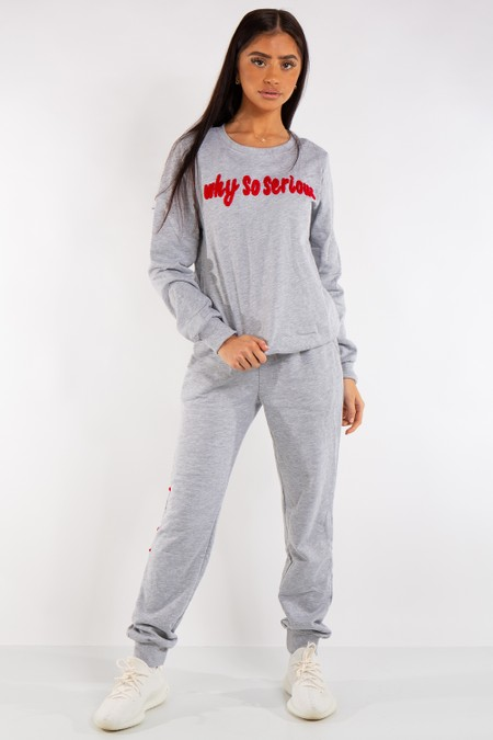 Genesis Grey 'Why So Serious' Tracksuit