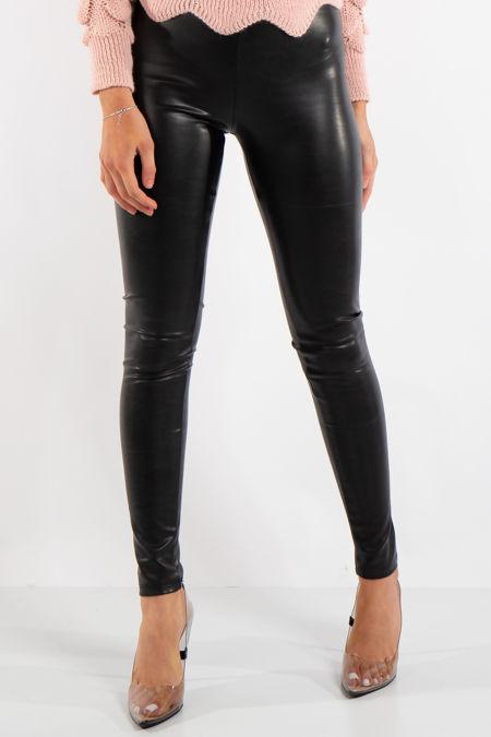 Maci Black Luxury PU Leggings