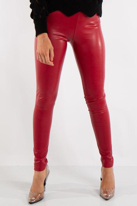 Maci Red Luxury PU Leggings