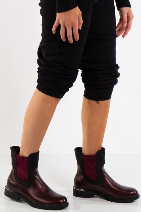 Talia Wine Contrast Chelsea Boots