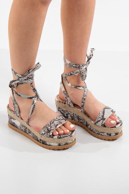 Adelina Snake Flatform Sandals