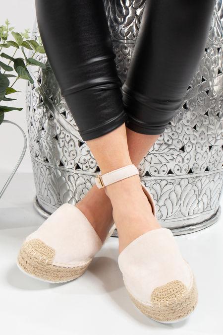 Melany Stone Flatform Espadrille Sandals