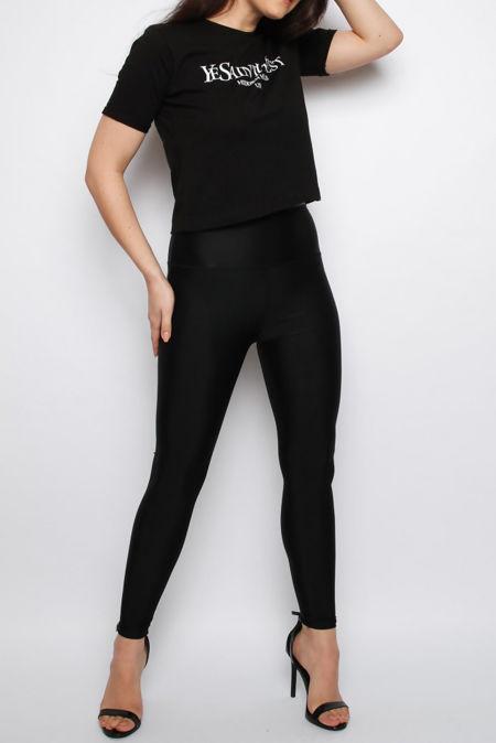 Laci Black High Waist Super Stretchy Leggings