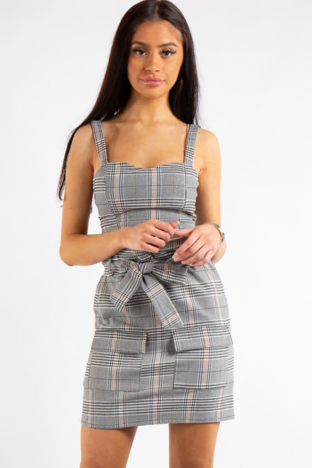 377afa15a254 Dayana Checked Crop Top and Skirt Co-ord Set