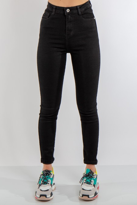 Black Denim High Waist Jeans