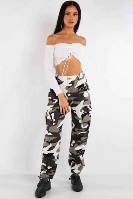 Jayla Black Camo Cargo Trousers
