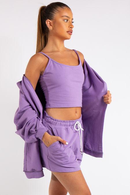 Davina Purple 3-piece Co-ord Set