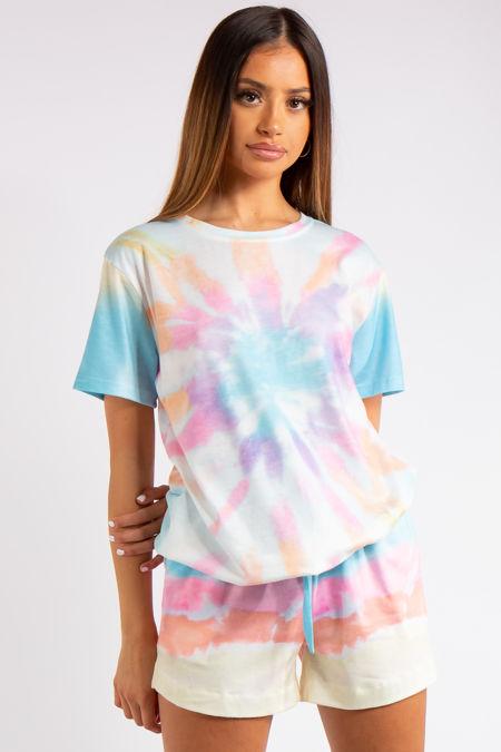 Kailyn Light Tie Dye T-shirt Co-ord Set