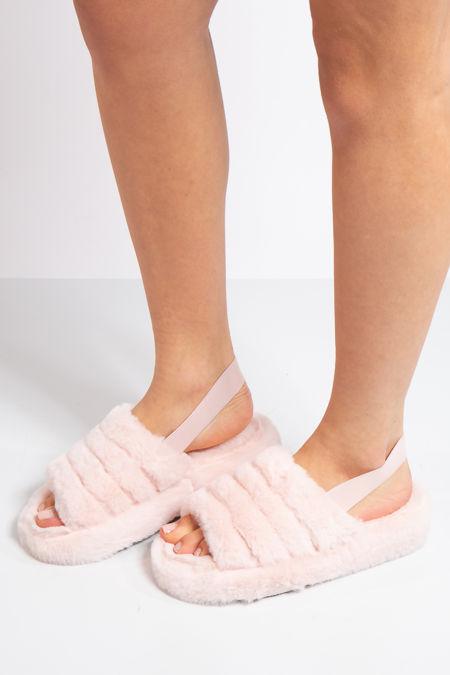 Juliet Pink Fluffy Slippers