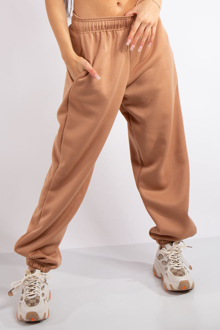 Brylee Camel Basic Casual Joggers
