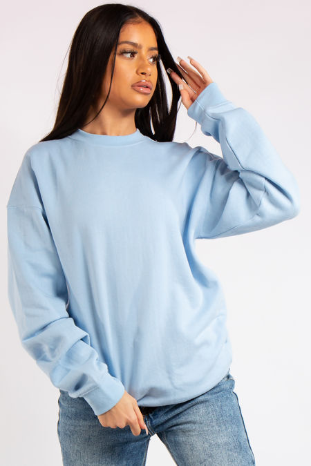 Aria Blue Oversized Sweatshirt