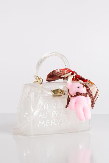 Jelly Clear Perspex Graffiti Mini Bag