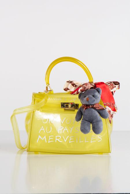 Jelly Yellow Perspex Graffiti Mini Bag