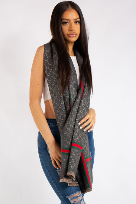 Milano Inspired Grey Classic Cashmere Scarf