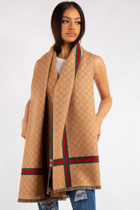 Milano Inspired Tan Classic Cashmere Scarf