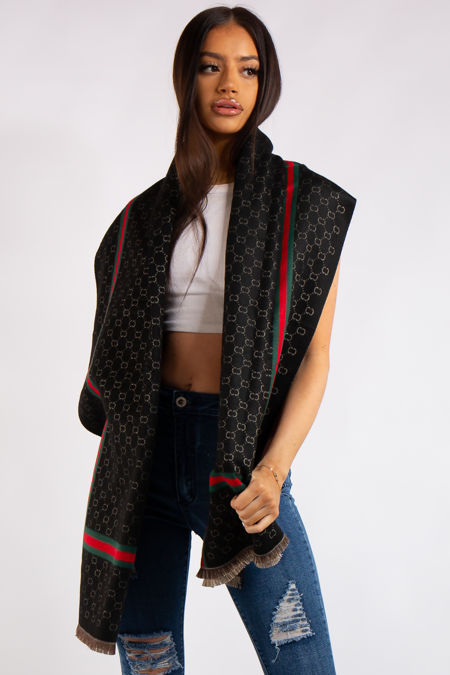 Milano Inspired Black Classic Cashmere Scarf