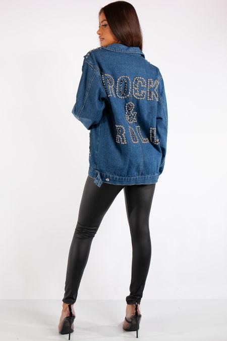 Kaiya Blue Rock & Roll Denim Jacket