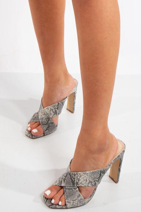 Esperanza Snake Heel Sandals