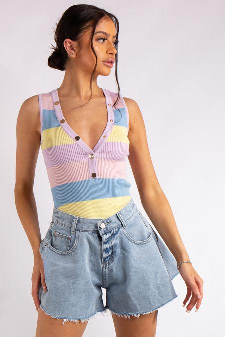 Kate Pastel Stripe Bodysuit