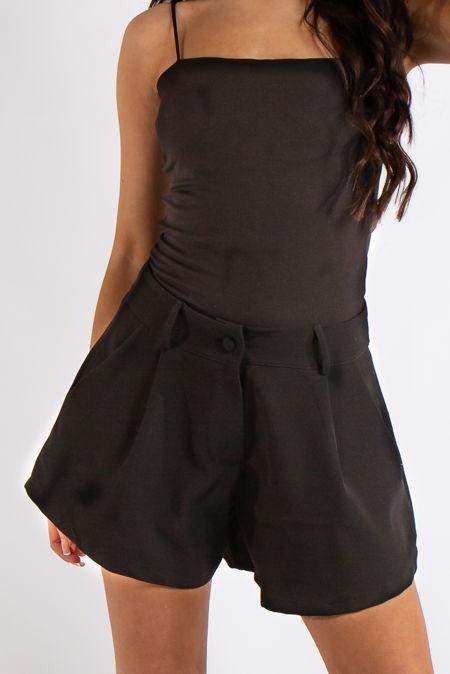 Tinley Black Flared Pocket Shorts