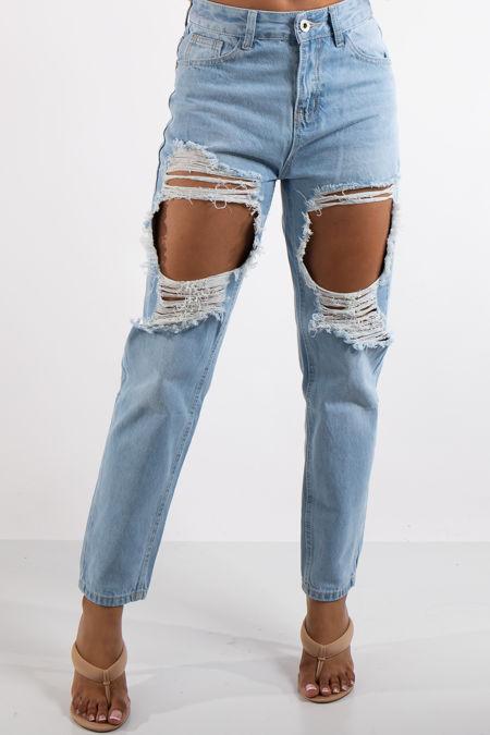 Arya Denim Ripped Boyfriend Jeans