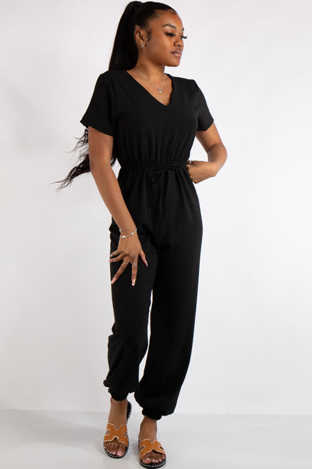 Gabriella Black Basic Jumpsuit