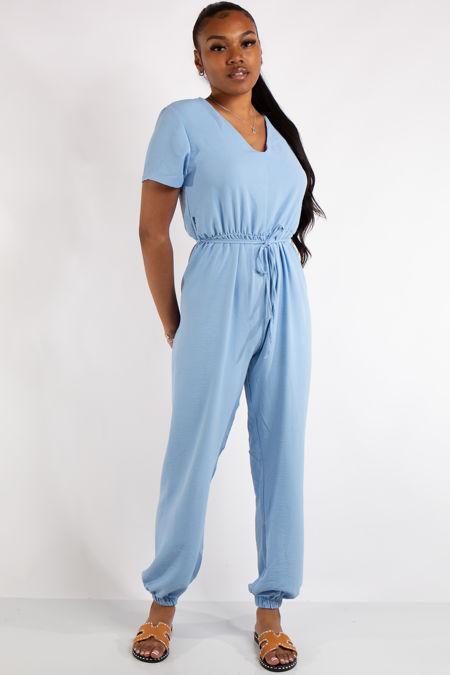 Gabriella Baby Blue Basic Jumpsuit