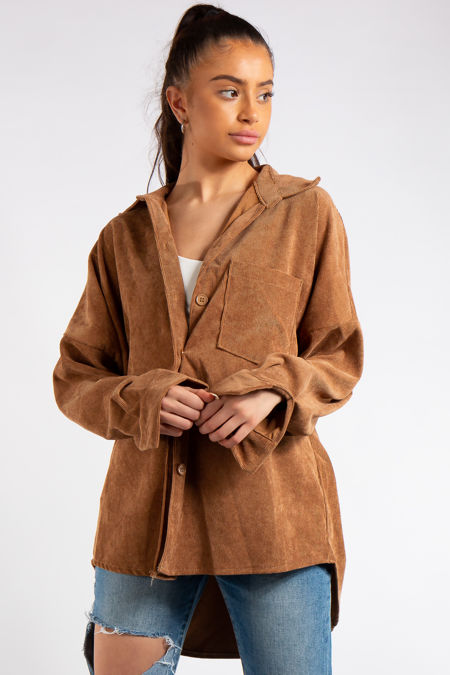 Ellen Camel Collard Corduroy Shirt