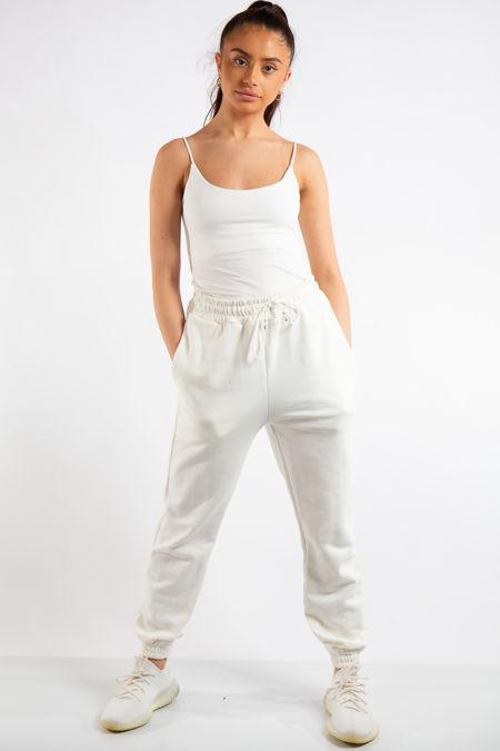 Tenley Off-White Plain Jogger Pants