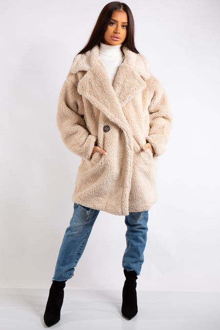 Kenley Cream Teddy Coat