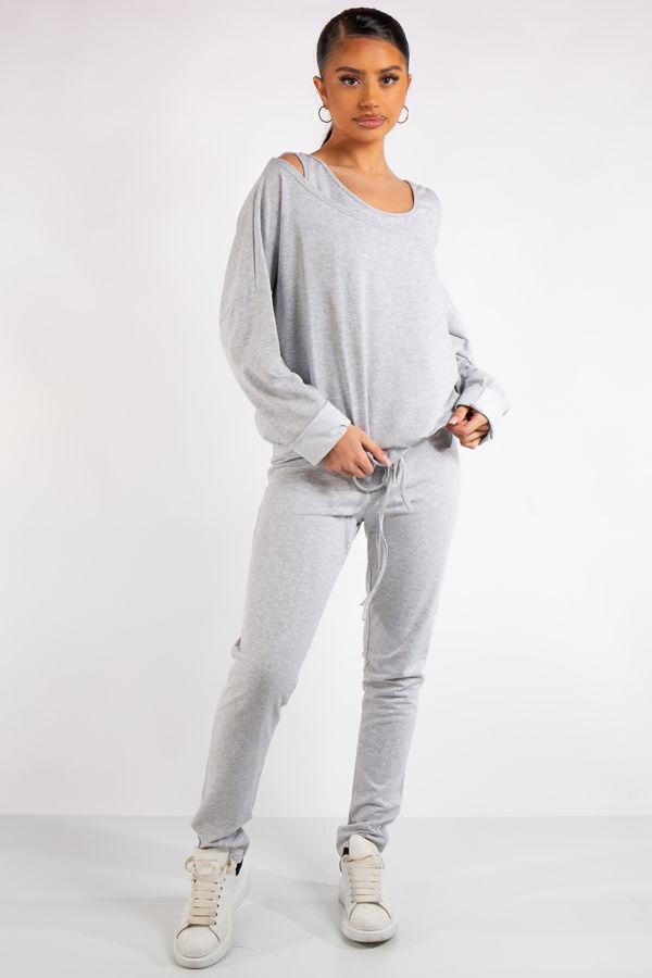 Isabella Grey Jersey 3 Piece Loungewear Set