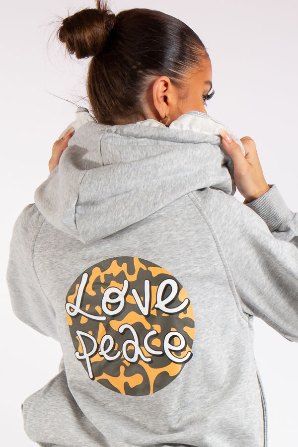 Egypt Grey Love Peace Logo Tracksuit
